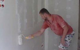 Шпаклевка (шпатлевка) стен валиком