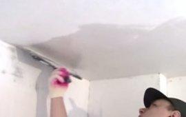 Шпаклевка (шпатлевка) потолка своии руками - видео инструкции