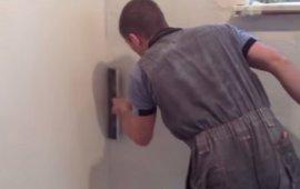 Шпаклевка (шпатлевка) стен под покраску - видео