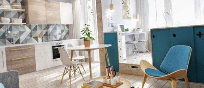 Проектирование интерьера небольшой квартиры или студии