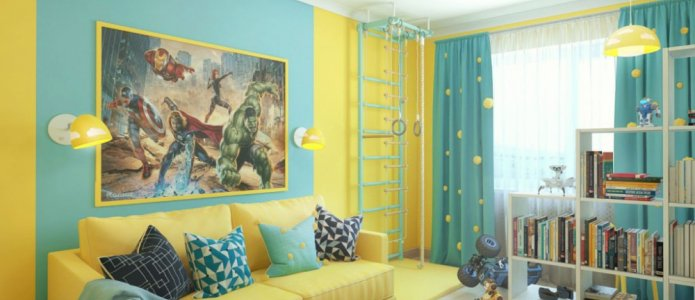 Решения для оформления стен в детской комнате